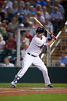 Minnesota Twins first baseman Joe Mauer (7) at bat during a Spring Training game against the Boston Red Sox on March 16, 2016 at Hammond Stadium in Fort Myers, Florida.  Minnesota defeated Boston 9-4.  (Mike Janes/Four Seam Images)