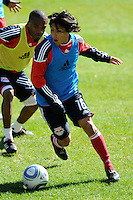 Irving Garcia (16) of the New York Red Bulls during a practice at Red Bull Arena in Harrison, NJ, on March 16, 2010.
