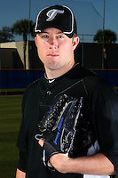 March 1, 2010:  Pitcher Jeremy Accardo (49) of the Toronto Blue Jays poses for a photo during media day at Englebert Complex in Dunedin, FL.  Photo By Mike Janes/Four Seam Images