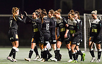 Aalst players celebrate after scoring a goal pictured during a female soccer game between Sporting Charleroi and Eendracht Aalst on the 8th  matchday of the 2020 - 2021 season of Belgian Scooore Womens Super League , friday 20 th of November 2020  in Marcinelle , Belgium . PHOTO SPORTPIX.BE | SPP | DAVID CATRY