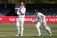 Simon Harmer of Essex looks on as Durham increase their first innings lead during Essex CCC vs Durham CCC, LV Insurance County Championship Group 1 Cricket at The Cloudfm County Ground on 16th April 2021