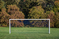 Soccer field and goal.