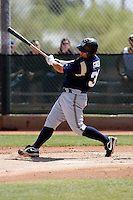 Caleb Gindl  - Milwaukee Brewers - 2009 spring training.Photo by:  Bill Mitchell/Four Seam Images