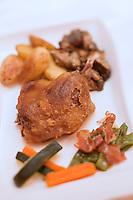 Europe/France/Aquitaine/40/Landes/Mont-de-Marsan: Confit de canard recette de Thierry Pantel du  Restaurant: Le Richelieu
