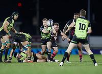 20th December 2020; The Sportsground, Galway, Connacht, Ireland; European Champions Cup Rugby, Connacht versus Bristol Bears; Kieran Marmion plays the ball out for Connacht