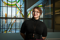 Geologic Sciences Major Gabrielle Bejarano, photographed in the ConocoPhillips Integrated Science Building.