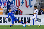 Suwon Midfielder Natanael Santos Junior (R) in action against Eastern SC Defender Wong Tsz Ho (L) during the AFC Champions League 2017 Group G match between Eastern SC (HKG) vs Suwon Samsung Bluewings (KOR) at the Mongkok Stadium on 14 March 2017 in Hong Kong, China. Photo by Yu Chun Christopher Wong / Power Sport Images