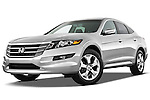 Low aggressive front three quarter view of a 2012 Honda Crosstour EXL.