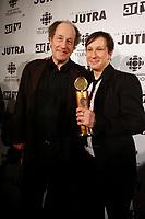 Montreal (qc) CANADA - Feb 19  2007 -<br /> <br /> Congorama wins at the 2007 JUTRAS Gala : <br /> Gabriel Arcand (L) , Paul Amharani (R)