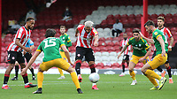 Said Benrahma of Brentford takes a shot at the Preston North End goal during Brentford vs Preston North End, Sky Bet EFL Championship Football at Griffin Park on 15th July 2020