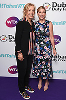 Martina Navratilova and Chris Evert <br /> arriving for the WTA Summer Party 2019 at the Jumeirah Carlton Tower Hotel, London<br /> <br /> ©Ash Knotek  D3512  28/06/2019