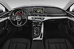 Stock photo of straight dashboard view of 2017 Audi A4 Premium 4 Door Sedan Dashboard