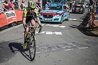 Jessica Allen (AUS/Mitchelton Scott) up the Mur de Huy.<br /> <br /> 21st La Flèche Wallonne Femmes <br /> 1 day race: Huy - Huy (118,5KM)