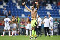 Fifa World Cup Russia 2018 Group G qualifier<br />Italy v Israel - 05/09/2017<br />Mapei Stadium in Reggio Emilia, ITALY<br />Gianluigi Buffon of Italy greeting the supporters<br />Photo Matteo Ciambelli  *** Local Caption *** © pixathlon<br /> Contact: +49-40-22 63 02 60 , info@pixathlon.de