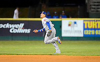 Daytona Cubs shortstop Javier Baez #12 chases a pop up during a game against the Brevard County Manatees at Spacecoast Stadium on April 5, 2013 in Melbourne, Florida.  Daytona defeated Brevard County 8-0.  (Mike Janes/Four Seam Images)