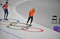 OLYMPIC GAMES: PYEONGCHANG: 17-02-2018, Gangneung Oval, Long Track, Training session, Arie Koops, ©photo Martin de Jong