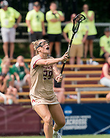 NEWTON, MA - MAY 22: Phoebe Day #29 of Boston College passes the ball during NCAA Division I Women's Lacrosse Tournament quarterfinal round game between Notre Dame and Boston College at Newton Campus Lacrosse Field on May 22, 2021 in Newton, Massachusetts.