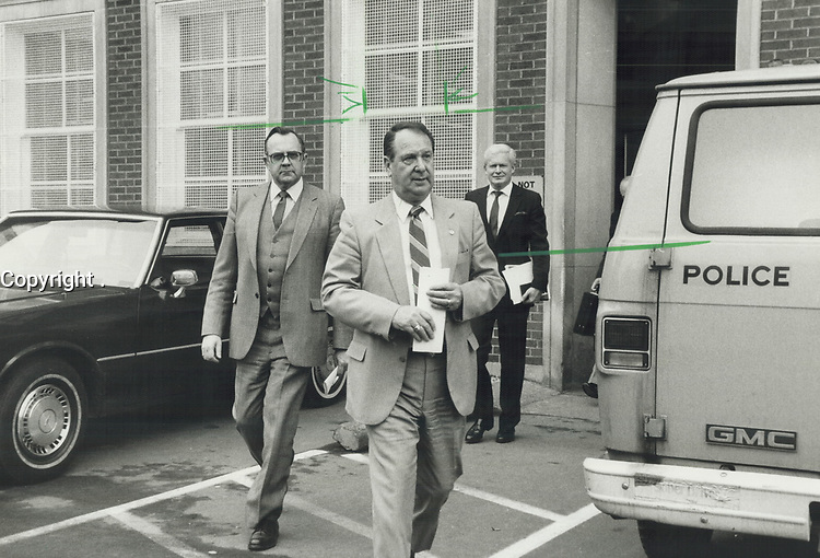 1985 FILE PHOTO - ARCHIVES -<br /> <br /> Toronto Metro Police Chief Jack Marks<br />  said Crime Stoppers has been remarkably successful in solving crimes that have stumped police.<br /> <br /> 1985<br /> <br /> PHOTO :  Erin Comb - Toronto Star Archives - AQP