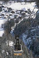 - Courmayeur, tourist resort, cableway Plan Checrouit....- Courmayeur, località turistica, funivia di Plan Checrouit
