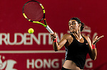 Caroline Garcia of France vs Angelique Kerber of Germany during the WTA Prudential Hong Kong Tennis Open at the Victoria Pack Stadium on 16 October 2015 in Hong Kong, China. Photo by Aitor Alcalde / Power Sport Images
