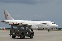 - Italian Air Force, Airbus A 319 CJ  aircraft of 31th Wing for VIP and government members transport<br />