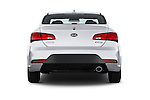 Straight rear view of 2016 KIA Forte-Koup EX 2 Door Coupe Rear View  stock images
