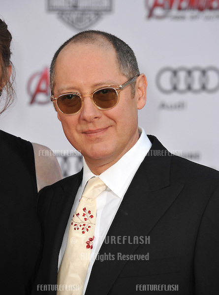"""James Spader at the world premiere of his movie """"Avengers: Age of Ultron"""" at the Dolby Theatre, Hollywood.<br /> April 13, 2015  Los Angeles, CA<br /> Picture: Paul Smith / Featureflash"""