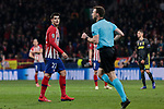 Atletico de Madrid's Alvaro Morata during UEFA Champions League match, Round of 16, 1st leg between Atletico de Madrid and Juventus at Wanda Metropolitano Stadium in Madrid, Spain. February 20, 2019. (ALTERPHOTOS/A. Perez Meca)