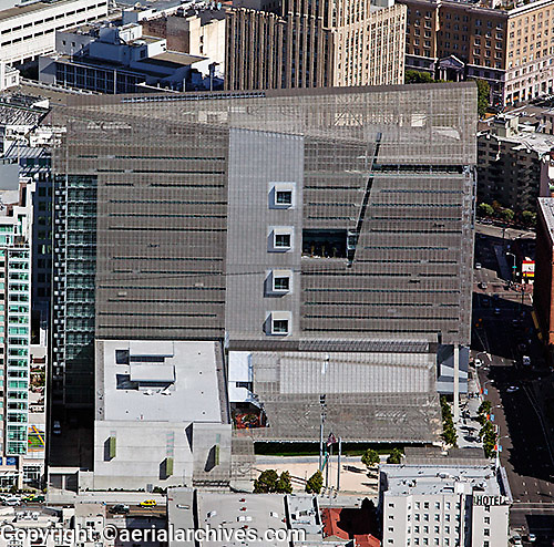 aerial photograph Federal building, 90 7th Street, Civic Center San Francisco, California