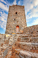 A Tower in the old town of Kardamyli in Mani, Greece