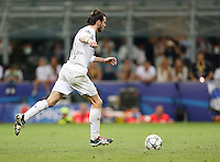 Calcio, finale di Champions League: Real Madrid vs Atletico Madrid. Stadio San Siro, Milano, 28 maggio 2016.<br /> Real Madrid's Gareth Bale prepares to kick to score during the penalty shootout of the Champions League final match between Real Madrid and Atletico Madrid, at Milan's San Siro stadium, 28 May 2016. Real Madrid won 5-4 on penalties after the match ended 1-1.<br /> UPDATE IMAGES PRESS/Isabella Bonotto