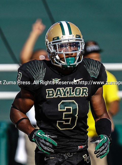 Baylor Bears wide receiver Lanear Sampson (3) in action during the game between the Southern Methodist Mustangs and the Baylor Bears at the Floyd Casey Stadium in Waco, Texas. Baylor defeats SMU 59 to 24.