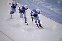 SPEEDSKATING: 24-11-2019 Tomaszów Mazowiecki (POL), ISU World Cup Arena Lodowa, Team Pursuit Men Division A (RUS), ©photo Martin de Jong