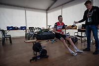 Bauke Mollema  (NED/Trek-Segafredo) after finishing the mountaintop finish of Stage 13: Pinerolo to Ceresole Reale/Lago Serrù (196km)<br /> 102nd Giro d'Italia 2019<br /> <br /> ©kramon