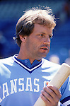 Hall of Famer George Brett looks on before game play.  Brett played for the Royals from 1973-93. (Photo by Rich Pilling)