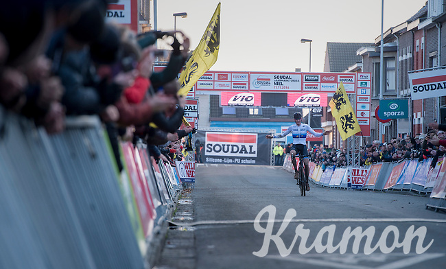 victory for European CX Champion Toon Aerts (BEL/Telenet-Fidea)<br /> <br /> Elite Men's Race<br /> Soudal Jaarmarktcross Niel 2016