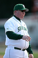 February 20, 2009:  Head Coach Jake Boss Jr. of Michigan State University during the Big East-Big Ten Challenge at Jack Russell Stadium in Clearwater, FL.  Photo by:  Mike Janes/Four Seam Images