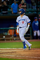 Andy Pages (18) of the Ogden Raptors runs home after hitting a home run against the Grand Junction Rockies at Lindquist Field on September 9, 2019 in Ogden, Utah. The Raptors defeated the Rockies 6-5. (Stephen Smith/Four Seam Images)