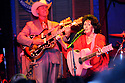 Wanda Jackson, backed by Deke Dickerson, performs at the Ponderosa Stomp in New Orleans, Wed., April 29, 2009.