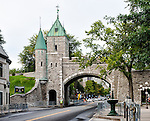 Photo of the Citadel of Quebec, which is the main gate in the old city wall.