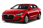 2018 Hyundai i30 Fastback Feel 5 Door Hatchback angular front stock photos of front three quarter view