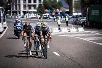 race leaders Guillaume Boivin (CAN/Israel Cycling Academy), Belgian Champion Tim Merlier (BEL/Corendon Circus), Michael Hepburn (AUS/Mitchelton Scott) and Aimé De Gendt (BEL/Wanty Gobert)<br /> <br /> Antwerp Port Epic 2019 <br /> One Day Race: Antwerp > Antwerp 187km<br /> <br /> ©kramon