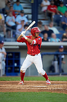 Williamsport Crosscutters second baseman Jake Scheiner (3) at bat during a game against the Mahoning Valley Scrappers on July 8, 2017 at BB&T Ballpark at Historic Bowman Field in Williamsport, Pennsylvania.  Williamsport defeated Mahoning Valley 6-1.  (Mike Janes/Four Seam Images)