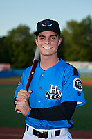 Hudson Valley Renegades Tyler Frank (5) poses for a photo before a game against the Tri-City ValleyCats on August 24, 2018 at Dutchess Stadium in Wappingers Falls, New York.  Hudson Valley defeated Tri-City 4-0.  (Mike Janes/Four Seam Images)