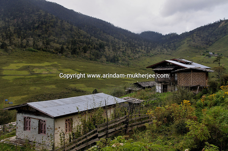 A small village and meadow on the way to Trongsha. Arindam Mukherjee..
