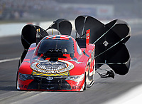 Sep 3, 2017; Clermont, IN, USA; NHRA funny car driver Jonnie Lindberg during qualifying for the US Nationals at Lucas Oil Raceway. Mandatory Credit: Mark J. Rebilas-USA TODAY Sports