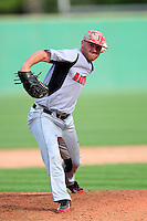 University of Hartford Hawks pitcher Austin Barnes (1) during a game versus the Boston College Eagles at Pellagrini Diamond at Shea Field on May 9, 2015 in Chestnut Hill, Massachusetts. (Ken Babbitt/Four Seam Images)