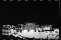 A general view of the Potala Palace at night in Lhasa, Tibet, September 2016.