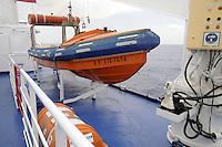 - safety equipment on board a ferry of Toremar company....- dotazioni di sicurezza a bordo di un  traghetto della compagnia Toremar