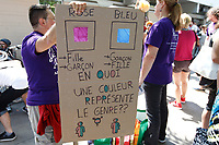 Transexuals yearly march in Montreal, August 9, 2015 during pride week end.<br /> <br /> Photo : Agence Quebec Presse